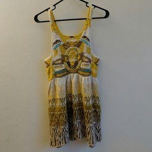 Sleeveless knitted dress, size small